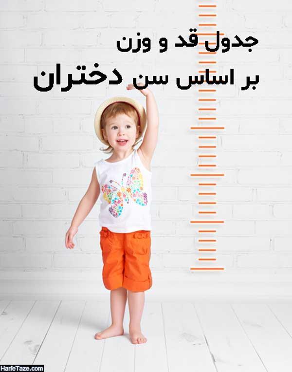 میانگین قد و وزن کودک