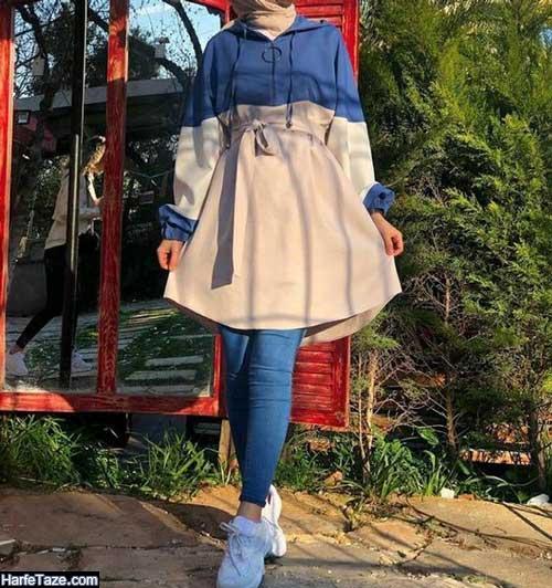 مدلهای مانتو دخترانه اسپرت بسیار جذاب رنگ روشن
