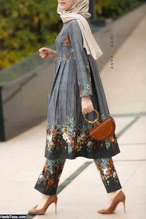 جدیدترین مانتوهای سنتی بلند دخترانه