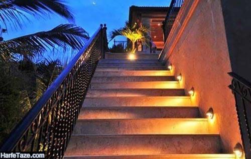 طراحی نورپردازی پله ها