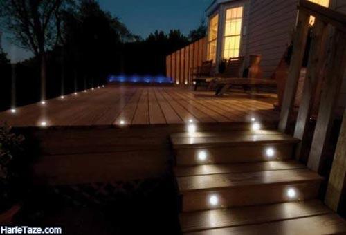 مدل نورپردازی پله ها