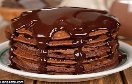 طرز تهیه پن کیک شکلاتی و نوتلا
