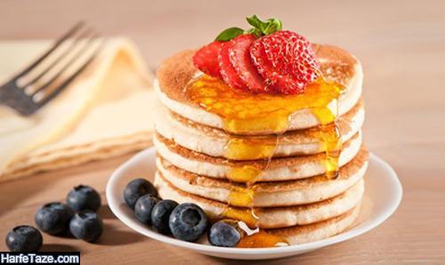 مدل تزیین پن کیک برای صبحانه و عصرانه