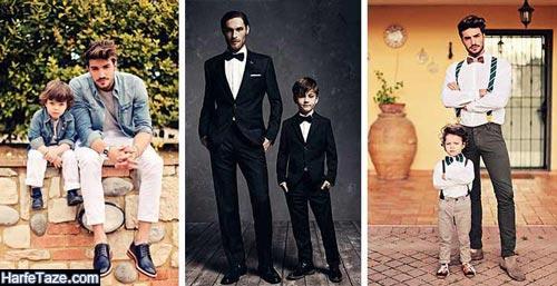 نحوه ست کردن لباس پدر با پسر