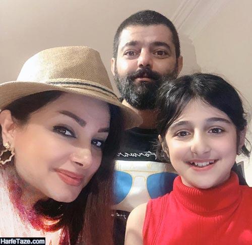 احمد شاهدلو و همسرش و دخترش