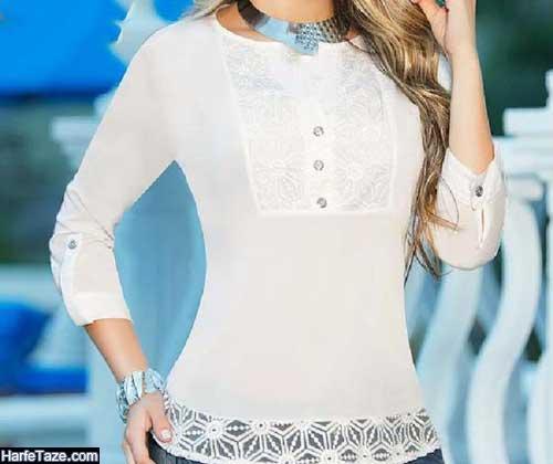 مدل شومیز دخترانه خنک رنگ روشن