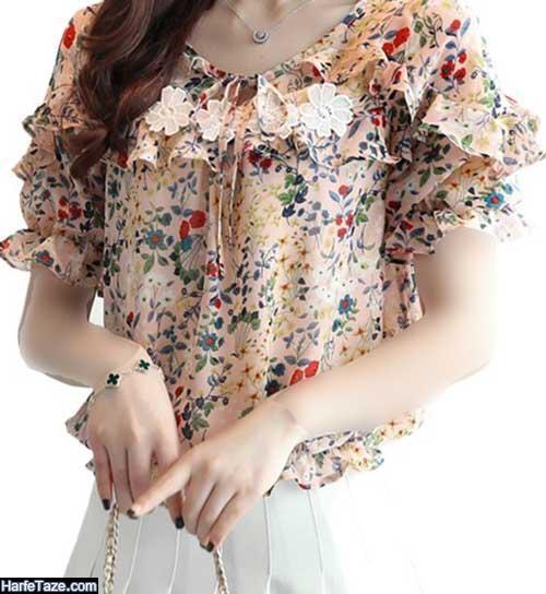 مدل شومیز دخترانه گلدار شیک و خوشگل