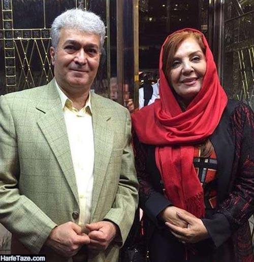 زهره حمیدی و همسرش