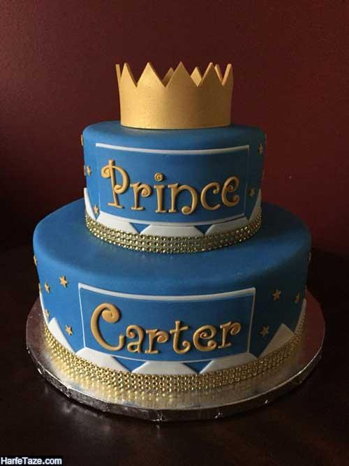 انواع مدل جدید کیک تاج برای جشن دندونی دخترانه و پسرانه