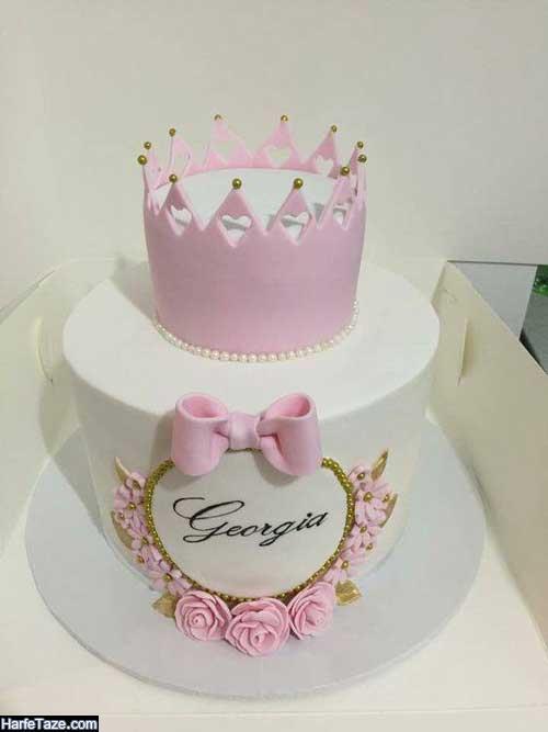 انواع مدل جدید کیک تولد تاج 2020 دخترانه و پسرانه لاکچری