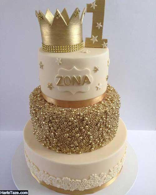 مدل کیک تولد تاج برای انواع سنین