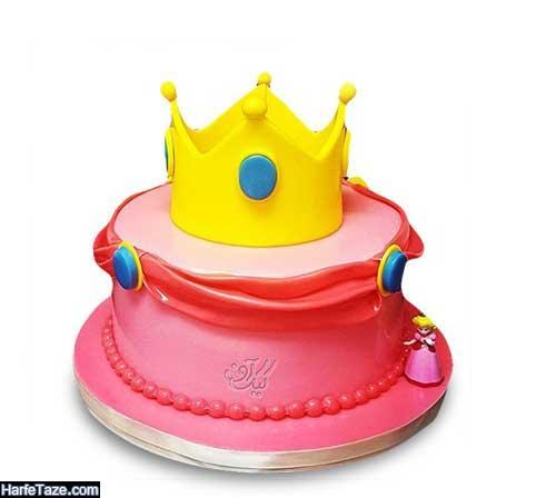 مدل جدید کیک تولد تاج 2020 دخترانه