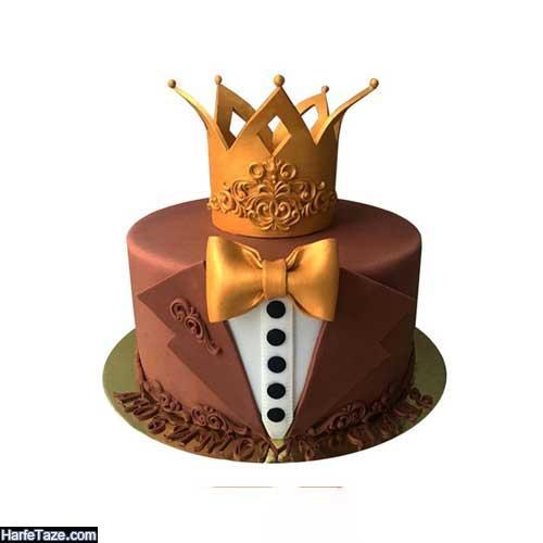 کیکهای تولد تاجی شکل شیک مردانه