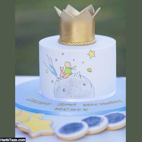کیک تولد بچگانه تاج دار شیک 99