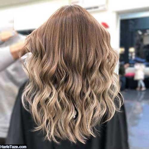 رنگ موی لاکچری مدل لایت روشن