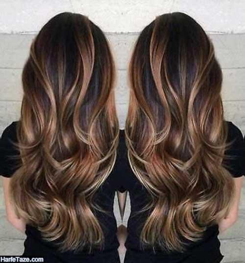 رنگ موی هایلایت استخوانی جذاب