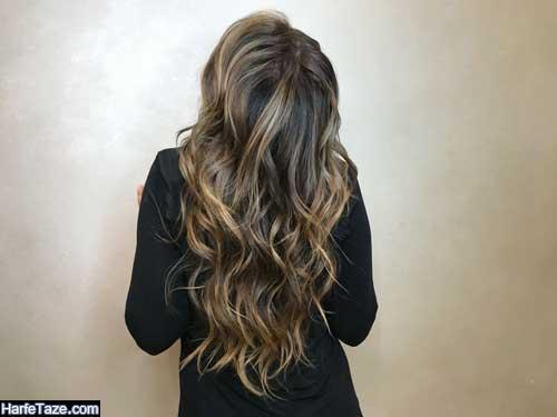 رنگ موهای جدید برای موهای بلند