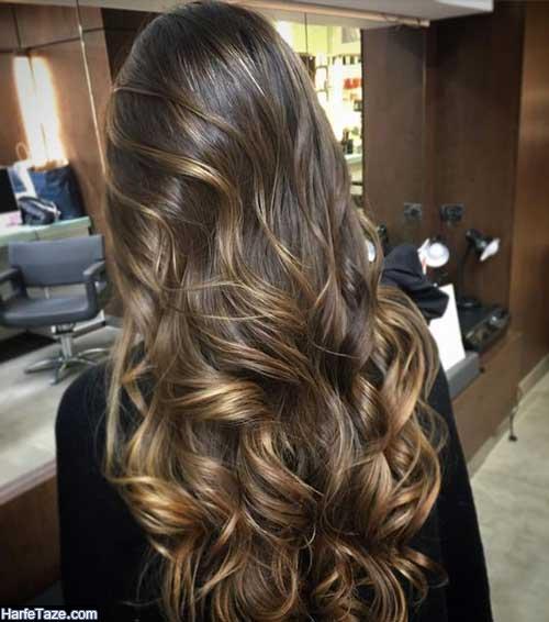 انواع جدیدترین مدل رنگ مو هایلایت روشن و تیره برای خانمها 99