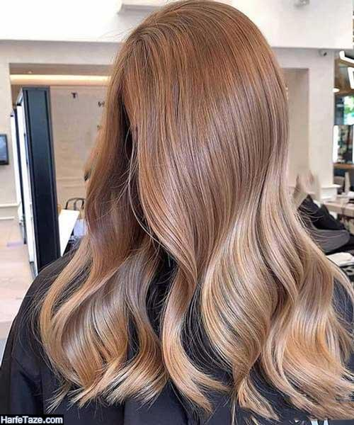 رنگ مو شیک هایلایت با دکلره