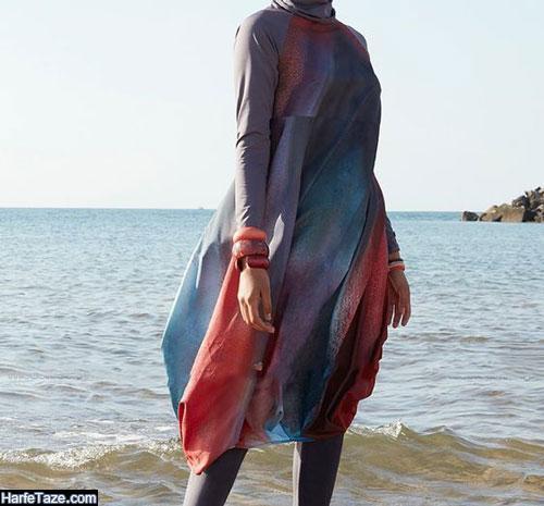 انواع مدل جدید و شیک مانتو ساحلی دخترانه نخی