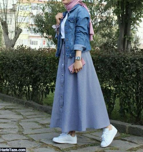 مدل ست مانتوی لی با دامن کلوش