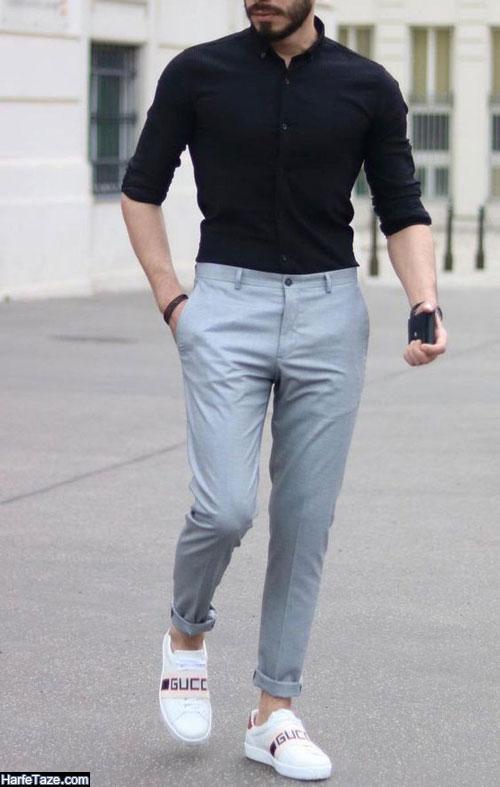 آلبومی از مدل های جدید تیپ مردانه با شلوارهای پارچه ای