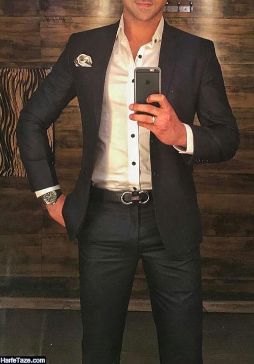 تیپ مردانه اسپرت مشکی با شلوار پارچه ای