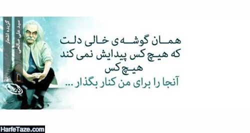 دانلود بهترین اشعار سید علی صالحی