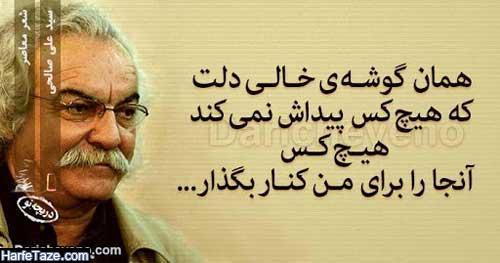 گلچینی از بهترین اشعار سید علی صالحی با عکس نوشته + اشعار عاشقانه سید علی صالحی