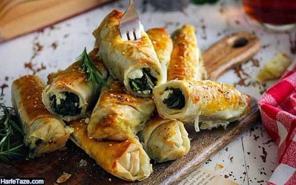 طرز پخت بورک گوشت و سبزیجات