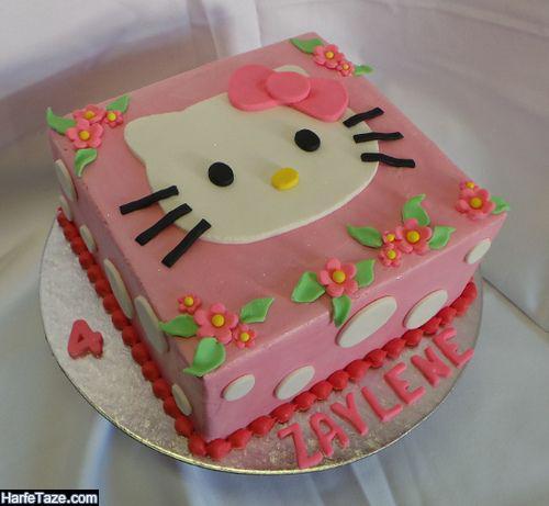 انواع تزیین کیک تولد کیتی