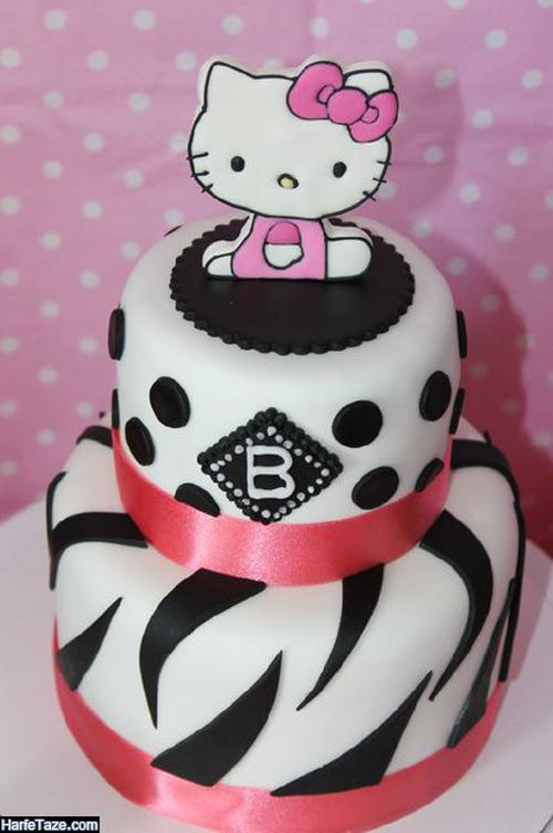 مدل جدید کیک تولد دو طبقه کیتی