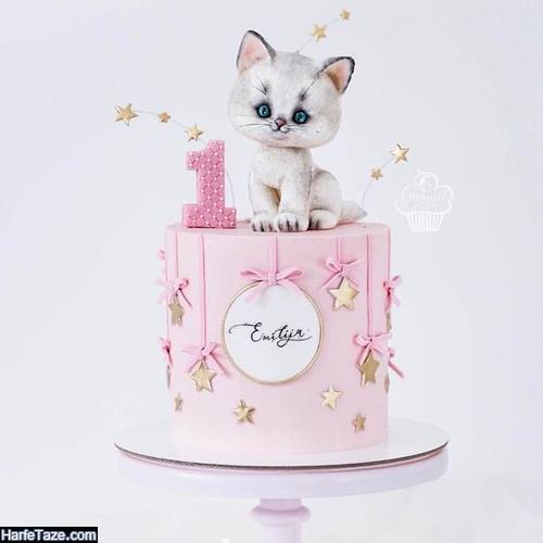 تصاویر کیک تولد مدل بچگانه با تم کیتی
