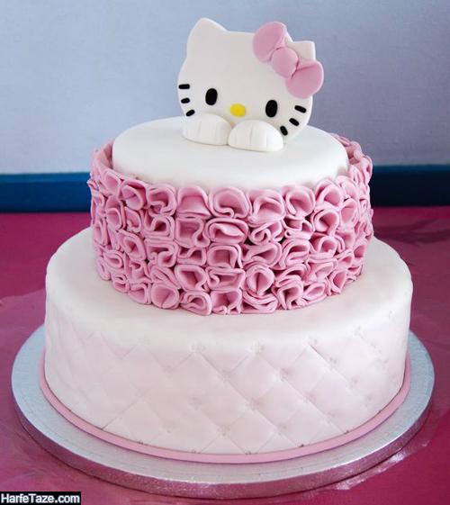 جدیدترین مدل کیک های تولد کیتی دخترانه