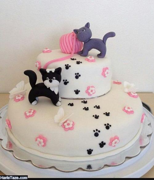 عکس کیک کیتی زیبا برای تولد