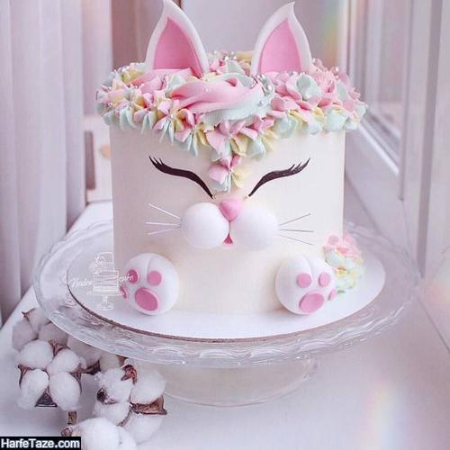 انواع مدل جدید کیک تولد کیتی با تزیین لاکچری 99