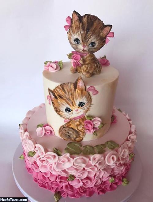 انواع مدل جدید کیک تولد کیتی با تزیین فوق العاده جذاب 99