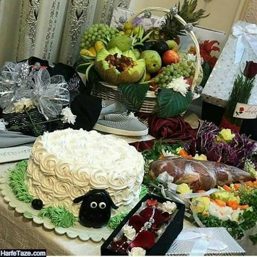 تزیین وسایل عید قربان عروس ,عیدی عید قربان ,تزیین هدیه عروس عید قربان
