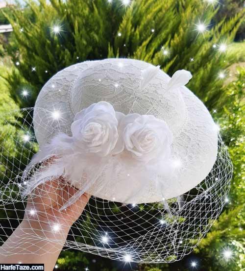 کلاه حجاب توری و گبپور لاکچری برای عروس+عکس