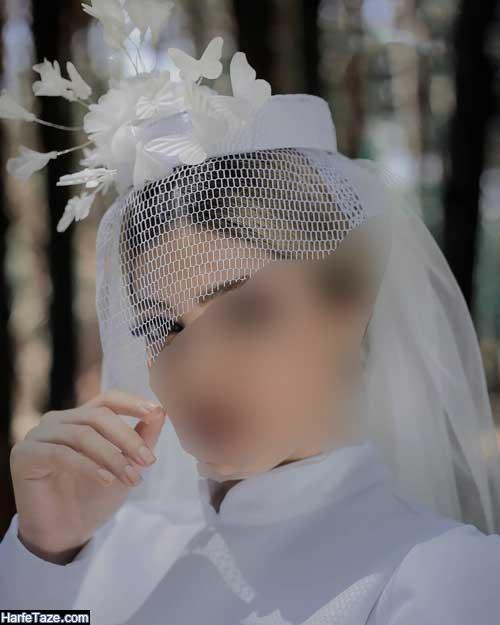 کلاه لبه دار شیک مجلسی سفید رنگ
