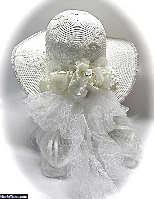 طرح شیک و خاص کلاه عروس