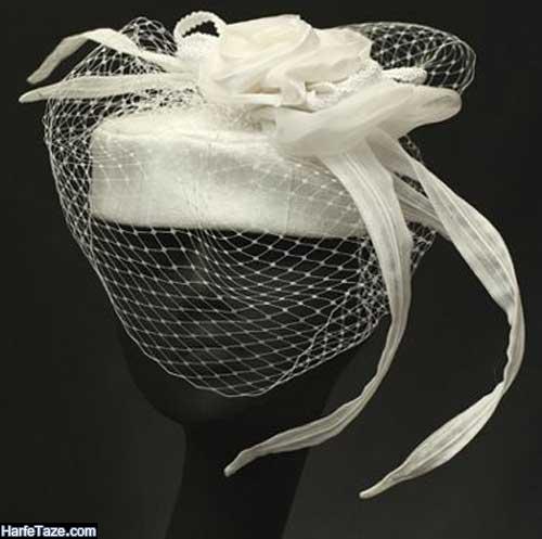 مدل کلاه عروس برای بله برون