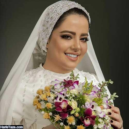 الگوی کلاه حجاب و توربان عروس