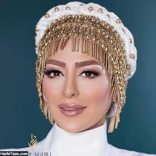 مدل توربان مرواریدی و زیبا برای عروس