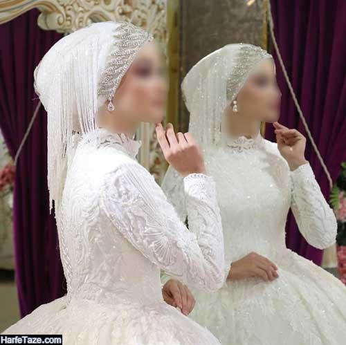 مدلهای بسیار زیبای کلاه حجاب برای مراسم عقد 2020