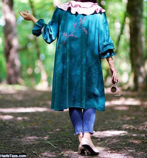 جدیدترین مدل های مانتو عروسکی دخترانه مجلسی و اسپرت 99