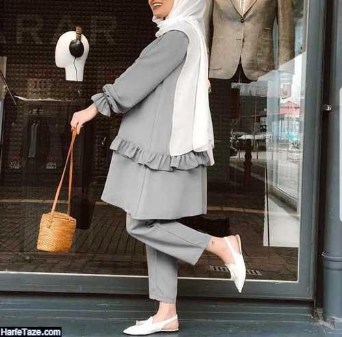 مدل مانتوی شیک دخترانه عروسکی با آستین پاپیون دار