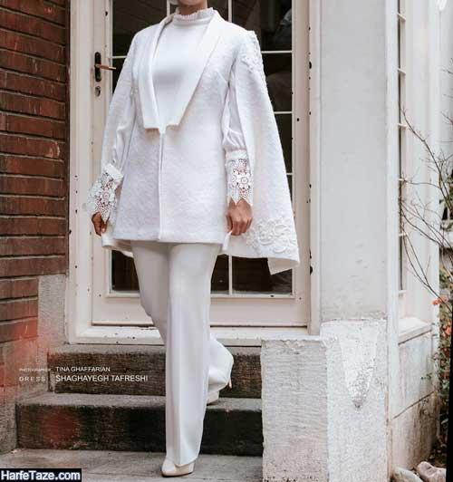 خوشگلترین مدلهای مانتو پیراهنی برای مراسم نامزدی و عقد