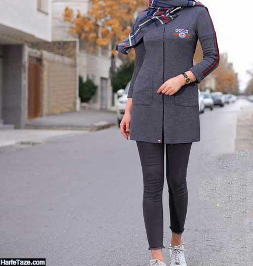 مدل های شیک و جدید تیشرت بلند ورزشی دخترانه