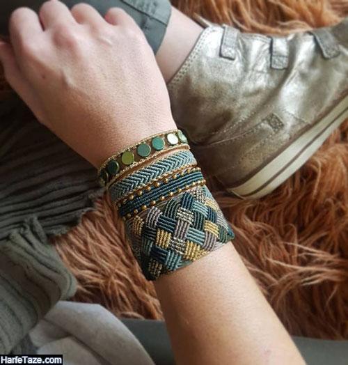 دستبند بافتنی مردانه